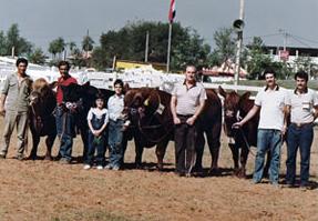 Grandes Campeones. Cacho Bianchi, Carlos, Joaquina y Juan Sackmann, Alberto Sosa Gautier, Fernando sosa y su hermano
