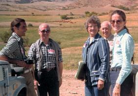 Carlos y Ana Sackmann, Martin y Abdon Lizaso y Sally Forbes