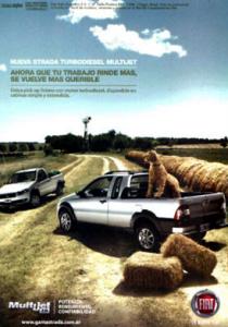 Publicidad gráfica de Fiat Strada realizada en Casamú (2010)