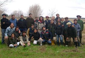 Con alumnos de veterinaria UBA 2010 (Doc. Dra. Susana Gil)