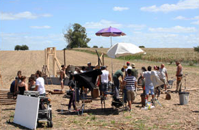 Filmación publicidad OBI Rusia, locación campo